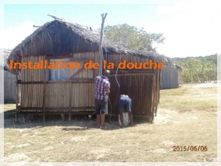 Installation de la douche