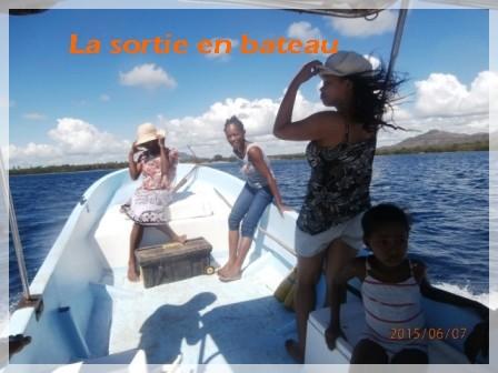 La sortie en bateau
