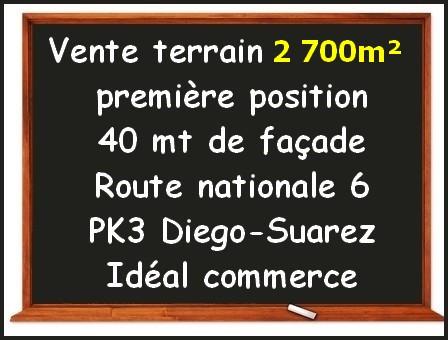 Vente terrain 4 000m² première position Diego-Suarez