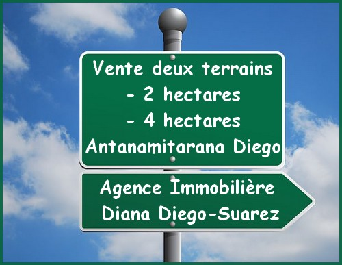 Vente deux terrains Antanamitarana Diego