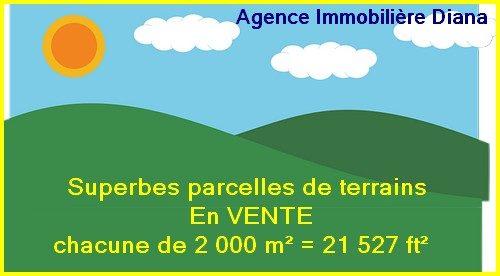 Vente parcelles terrains 2 000 m² Scama Diego-Suarez