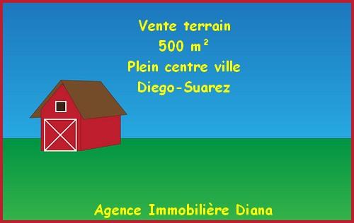 Centre ville Diego-Suarez vente terrain 500m²