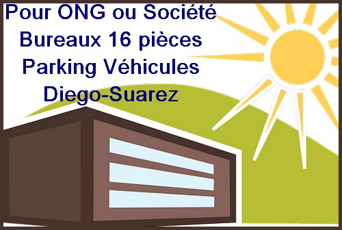 Location quartier Scama grande maison neuve 12 chambres Diego-Suarez