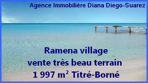 Ramena village vente très beau terrain 1 997 m² Titré-Borné