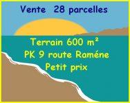 Nous vendons 28 parcelles terrain 600 m² PK 9 route Raméne