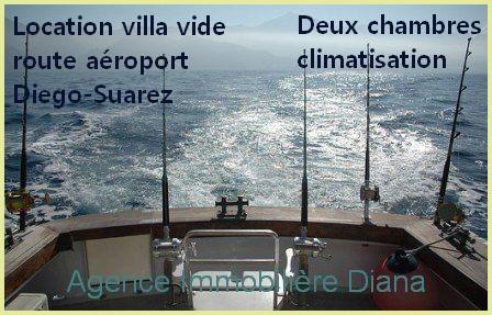 Location villa vide route aéroport Diego-Suarez