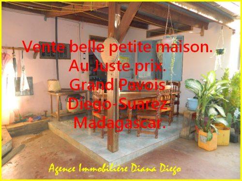 Vente belle petite maison. Juste prix. Grand Pavois Diego-Suarez Madagascar