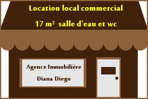 Location local commercial petit prix quartier gymnase Diego-Suarez