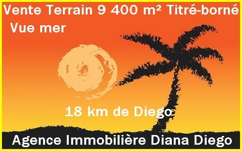 9 400m² Vente terrain vue mer direction Cap Diego Antsiranana